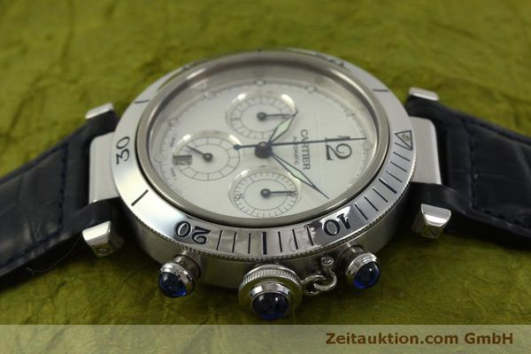 Used luxury watch Cartier Pasha chronograph steel automatic Kal. 205  | 151065 05