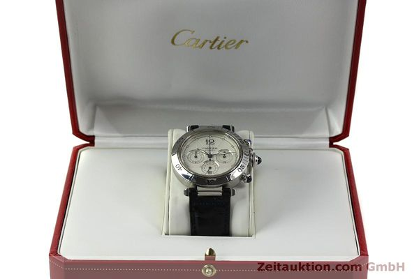 Used luxury watch Cartier Pasha chronograph steel automatic Kal. 205  | 151065 07