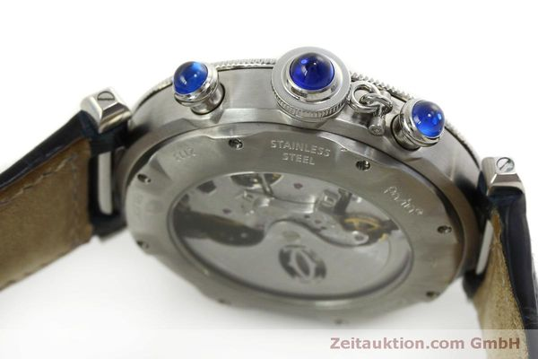 Used luxury watch Cartier Pasha chronograph steel automatic Kal. 205  | 151065 11