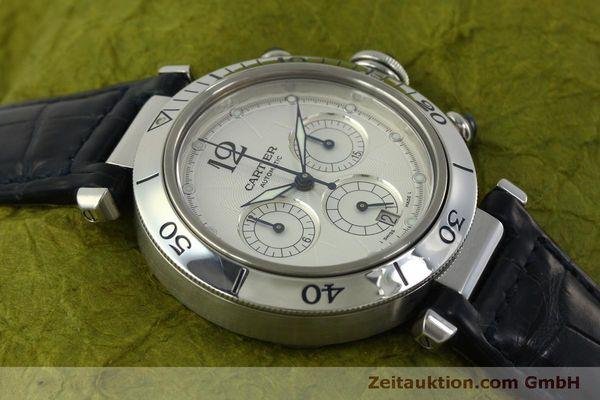 Used luxury watch Cartier Pasha chronograph steel automatic Kal. 205  | 151065 15
