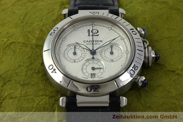 Used luxury watch Cartier Pasha chronograph steel automatic Kal. 205  | 151065 16