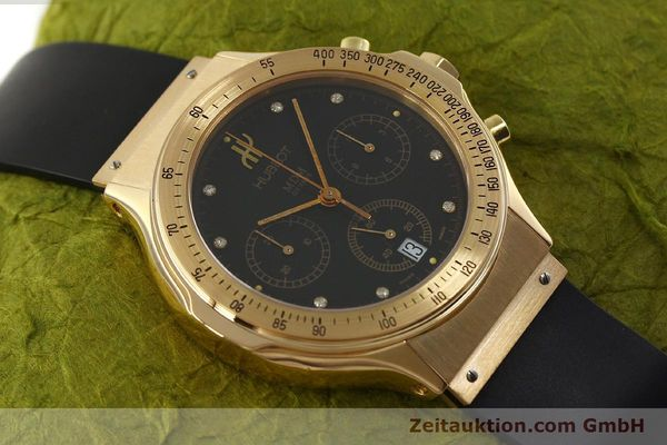 montre de luxe d occasion Hublot MDM chronographe or 18 ct quartz Kal. 1270 Ref. 1620.8  | 151066 14