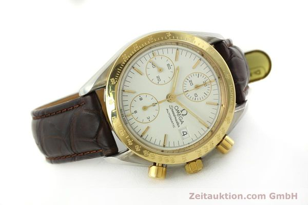 Used luxury watch Omega Speedmaster chronograph steel / gold automatic Kal. 1155  | 151084 03