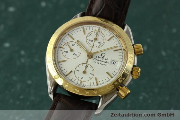 Used luxury watch Omega Speedmaster chronograph steel / gold automatic Kal. 1155  | 151084 04