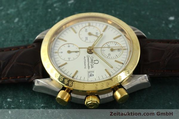 Used luxury watch Omega Speedmaster chronograph steel / gold automatic Kal. 1155  | 151084 05
