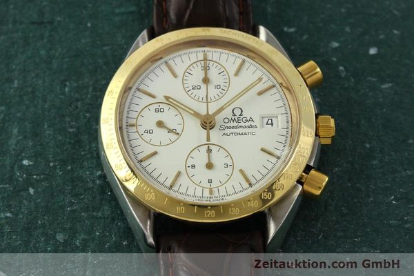 Used luxury watch Omega Speedmaster chronograph steel / gold automatic Kal. 1155  | 151084 14