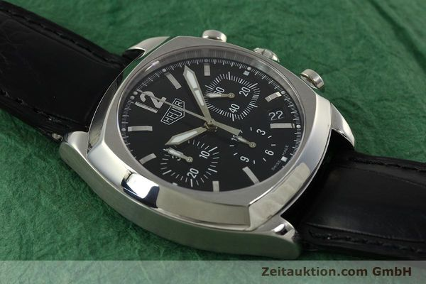 Used luxury watch Tag Heuer Monza chronograph steel automatic Kal. 17 ETA 2824-2 Ref. CR2110  | 151085 16