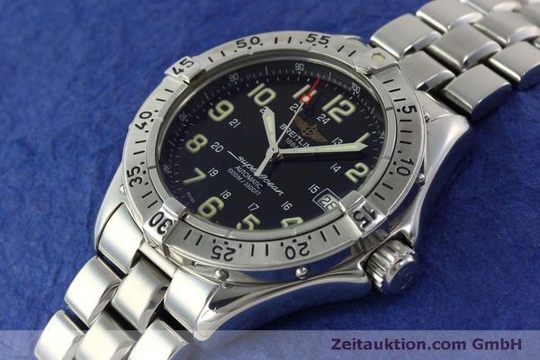 Used luxury watch Breitling Superocean steel automatic Kal. B17 ETA 2824-2 Ref. A17040  | 151090 01