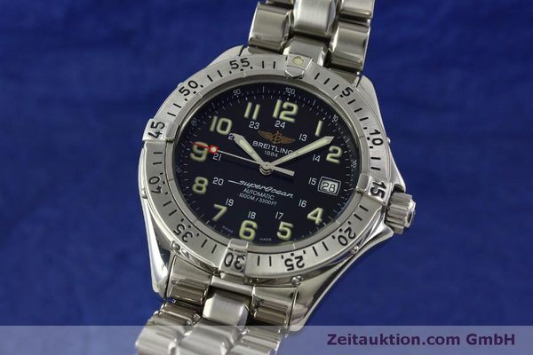 Used luxury watch Breitling Superocean steel automatic Kal. B17 ETA 2824-2 Ref. A17040  | 151090 04