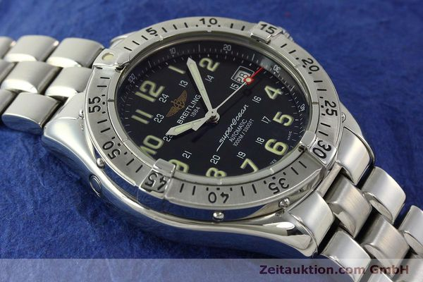 Used luxury watch Breitling Superocean steel automatic Kal. B17 ETA 2824-2 Ref. A17040  | 151090 15