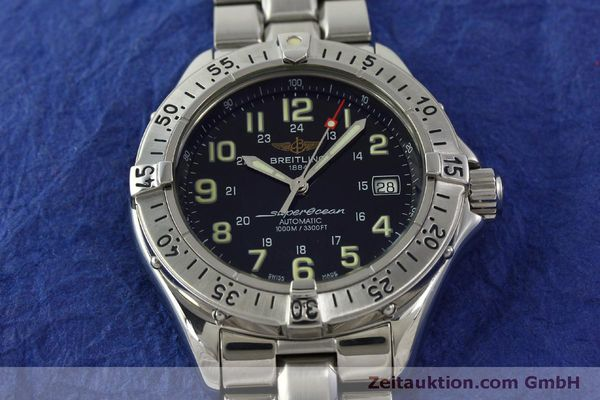 Used luxury watch Breitling Superocean steel automatic Kal. B17 ETA 2824-2 Ref. A17040  | 151090 16