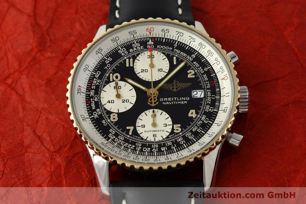Used luxury watch Breitling Navitimer chronograph steel / gold automatic Kal. B13 ETA 7750 Ref. D13022  | 151092 14
