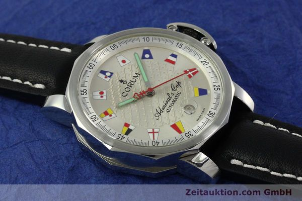 Used luxury watch Corum Admirals Cup steel automatic Kal. ETA 2824 Ref. 082.830.20  | 151110 12