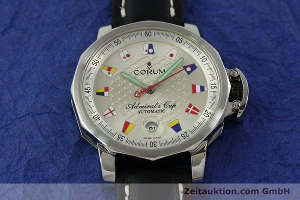 Used luxury watch Corum Admirals Cup steel automatic Kal. ETA 2824 Ref. 082.830.20  | 151110 13