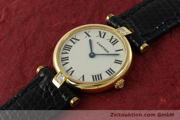 gebrauchte Luxusuhr Cartier Vendome 18k Gold Quarz Kal. 81  | 151115 01