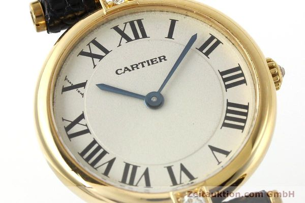 gebrauchte Luxusuhr Cartier Vendome 18k Gold Quarz Kal. 81  | 151115 02