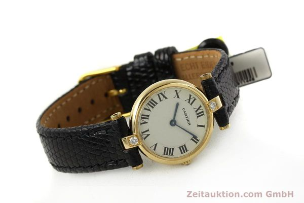 gebrauchte Luxusuhr Cartier Vendome 18k Gold Quarz Kal. 81  | 151115 03