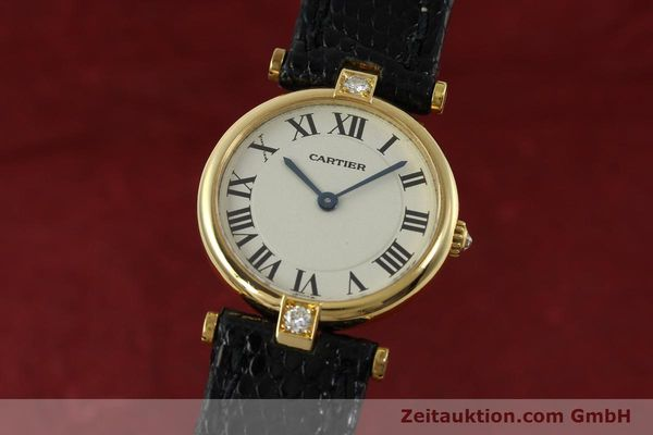 gebrauchte Luxusuhr Cartier Vendome 18k Gold Quarz Kal. 81  | 151115 04