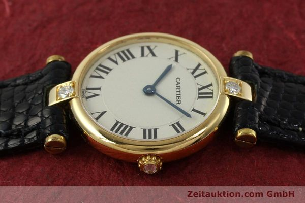 gebrauchte Luxusuhr Cartier Vendome 18k Gold Quarz Kal. 81  | 151115 05