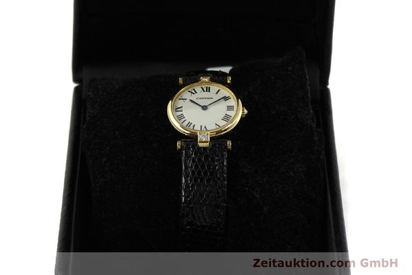 gebrauchte Luxusuhr Cartier Vendome 18k Gold Quarz Kal. 81  | 151115 07