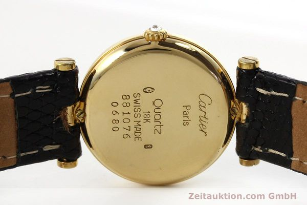 gebrauchte Luxusuhr Cartier Vendome 18k Gold Quarz Kal. 81  | 151115 09