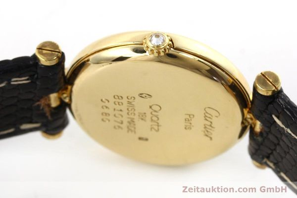 gebrauchte Luxusuhr Cartier Vendome 18k Gold Quarz Kal. 81  | 151115 10
