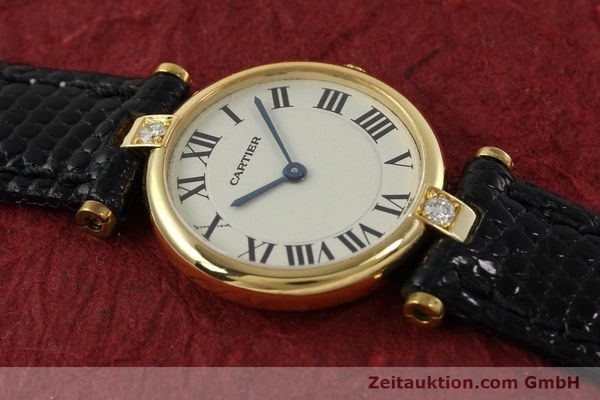gebrauchte Luxusuhr Cartier Vendome 18k Gold Quarz Kal. 81  | 151115 12