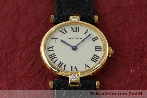 gebrauchte Luxusuhr Cartier Vendome 18k Gold Quarz Kal. 81  | 151115 13