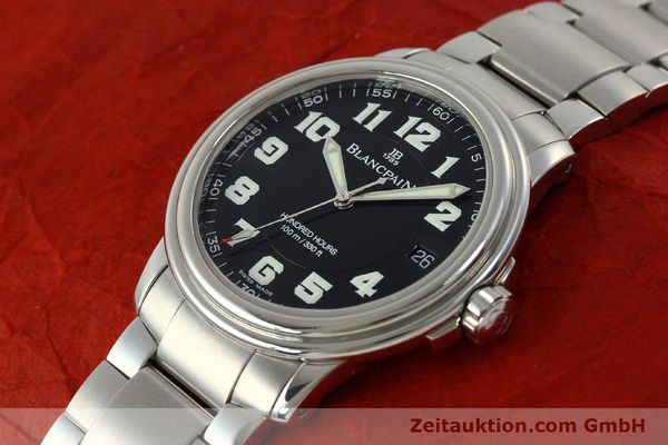 Used luxury watch Blancpain Leman steel automatic Kal. 1151 Ref. 2100-1130M  | 151123 01