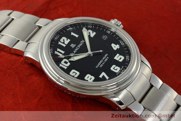 Used luxury watch Blancpain Leman steel automatic Kal. 1151 Ref. 2100-1130M  | 151123 14