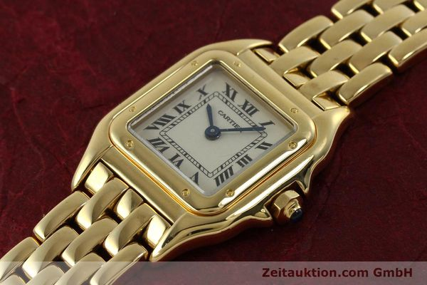 gebrauchte Luxusuhr Cartier Panthere 18k Gold Quarz Kal. 187  | 151137 01