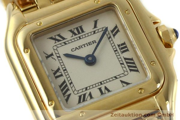 Used luxury watch Cartier Panthere 18 ct gold quartz Kal. 187  | 151137 02