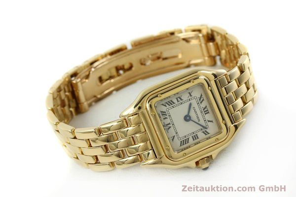 gebrauchte Luxusuhr Cartier Panthere 18k Gold Quarz Kal. 187  | 151137 03