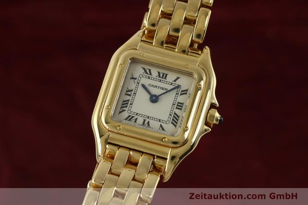Used luxury watch Cartier Panthere 18 ct gold quartz Kal. 187  | 151137 04