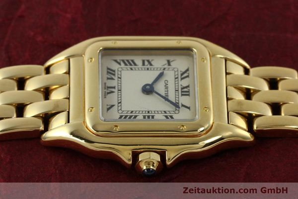 Used luxury watch Cartier Panthere 18 ct gold quartz Kal. 187  | 151137 05