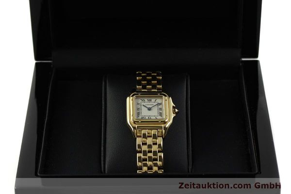 Used luxury watch Cartier Panthere 18 ct gold quartz Kal. 187  | 151137 07