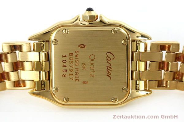 gebrauchte Luxusuhr Cartier Panthere 18k Gold Quarz Kal. 187  | 151137 09