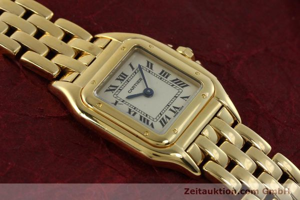 Used luxury watch Cartier Panthere 18 ct gold quartz Kal. 187  | 151137 14