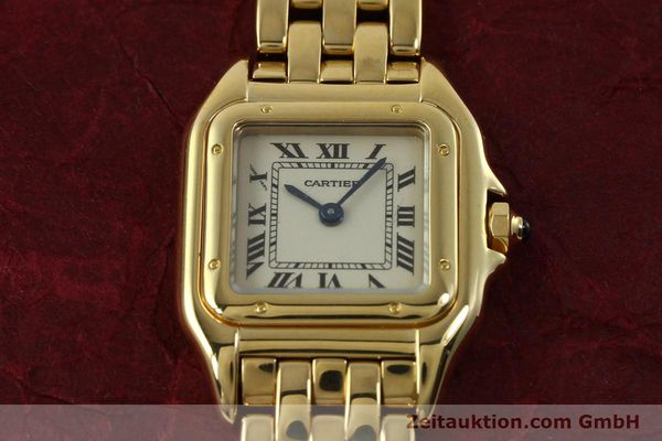 Used luxury watch Cartier Panthere 18 ct gold quartz Kal. 187  | 151137 15