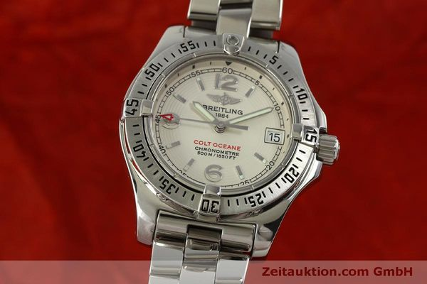 Used luxury watch Breitling Colt Oceane steel quartz Kal. B77 ETA 955452 Ref. A77380  | 151139 04