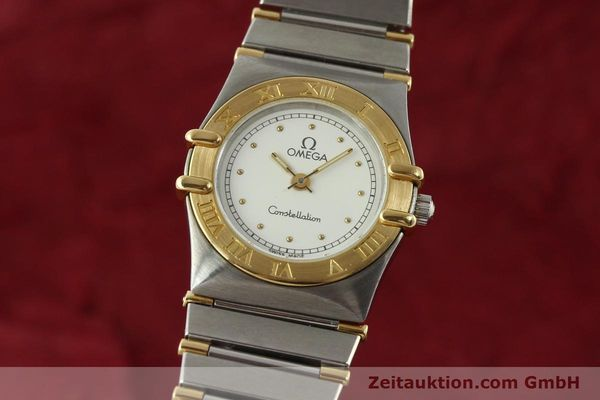 montre de luxe d occasion Omega Constellation acier / or  quartz Kal. ETA 976.001 Ref. 1455-13702000  | 151142 04