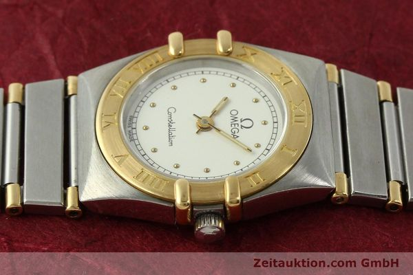montre de luxe d occasion Omega Constellation acier / or  quartz Kal. ETA 976.001 Ref. 1455-13702000  | 151142 05