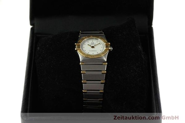 montre de luxe d occasion Omega Constellation acier / or  quartz Kal. ETA 976.001 Ref. 1455-13702000  | 151142 07