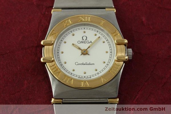 montre de luxe d occasion Omega Constellation acier / or  quartz Kal. ETA 976.001 Ref. 1455-13702000  | 151142 15