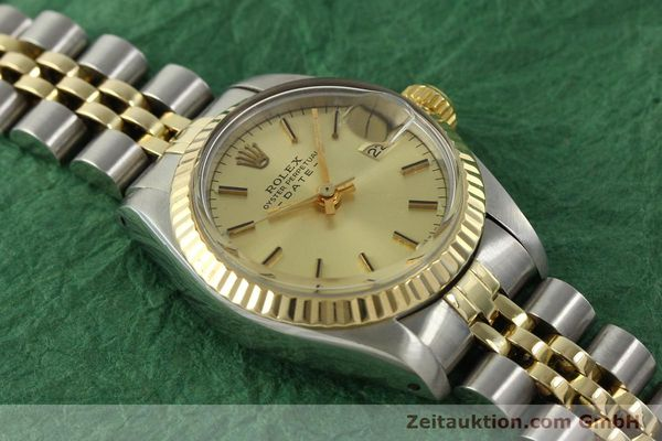 Used luxury watch Rolex Lady Date steel / gold automatic Kal. 2030 Ref. 6917  | 151144 15