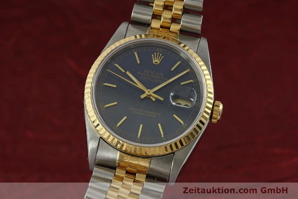 Used luxury watch Rolex Datejust steel / gold automatic Kal. 3135 Ref. 16233  | 151145 04