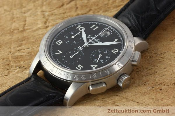 Used luxury watch Glashütte Senator chronograph steel automatic Kal. 39  | 151160 01