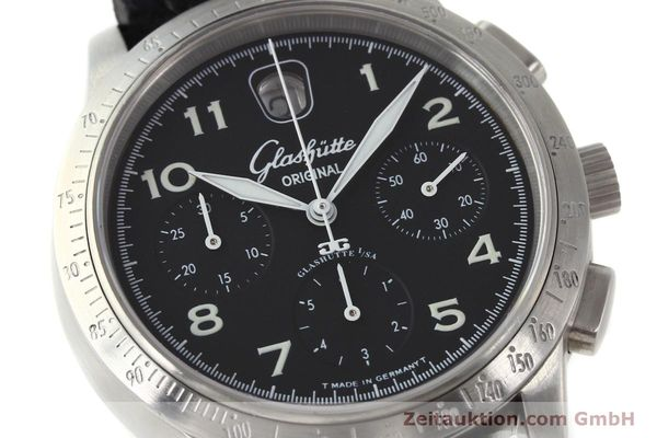 Used luxury watch Glashütte Senator chronograph steel automatic Kal. 39  | 151160 02