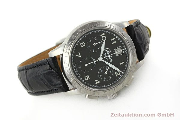 Used luxury watch Glashütte Senator chronograph steel automatic Kal. 39  | 151160 03