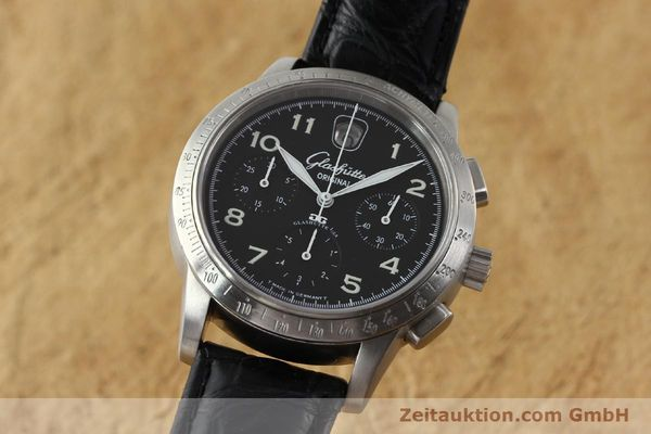 Used luxury watch Glashütte Senator chronograph steel automatic Kal. 39  | 151160 04